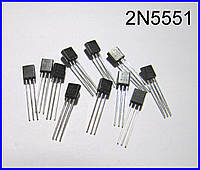 2N5551, транзистор, n-p-n.