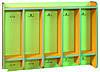 Вешалка для полотенец с полкой 1108х172х754 мм (5 мест)