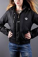 Куртка подростковая чёрная девочкам