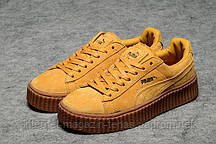 Женские кроссовки Rihanna x PUMA Creeper (Wheat)  замша
