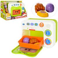 Набор игровой 0761-NL духовка, музыка, звук, свет, продукты, на батарейке, в коробке, 29-13,5-19см
