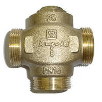 Триходовий клапан DN 25 Herz-Teplomix зі стабільно байпасом