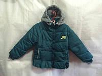 Детская куртка на мальчика зеленая оптом , фото 1