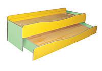 Кровать детская 2-х ярусная без матраса 1435х649х585 мм