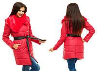 """Женская куртка на кнопках с искусственным мехом """"Канада"""" в расцветках"""