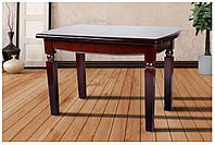 Кухонный стол деревянный Кайман 160(+50)х85х75 (темный орех)