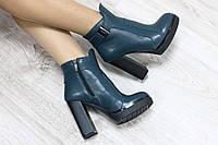 Ботиночки кожаные на каблуке демисезонные