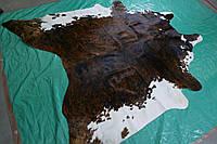 Шкура коровы, напольная интерьерная шкура экзотическая тигровая с белыми боками