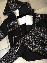 """Теплый детский спортивный костюм на меху """"Norway"""" с капюшоном (2 цвета), фото 2"""