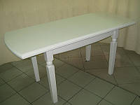 Стол деревянный Кайман 195(+40+40)х100х75 (белый, ваниль, бежевый)