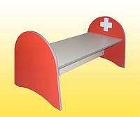 Кровать детская игровая из серии (Больница детская), 1000х530х500 мм.