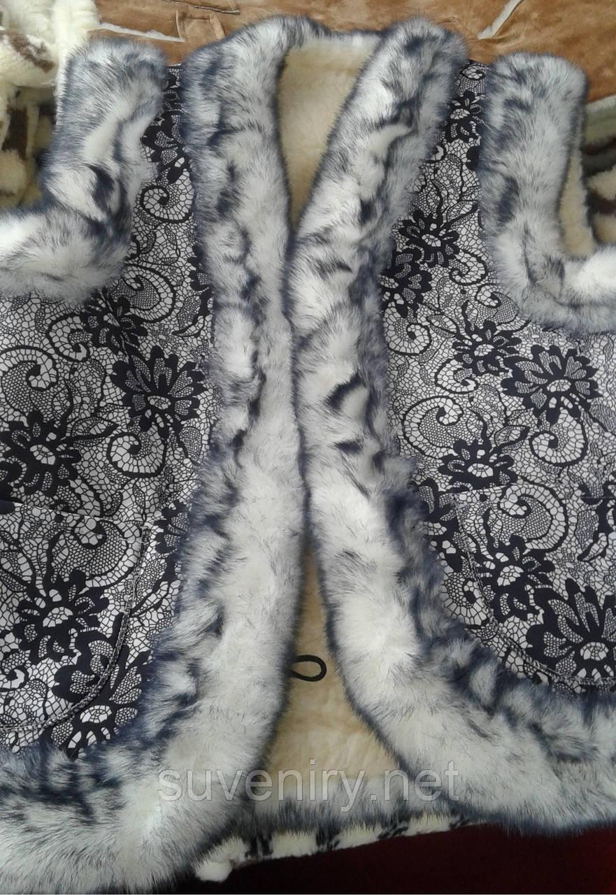 Очень теплая красивая женская жилетка из овчины разные размеры