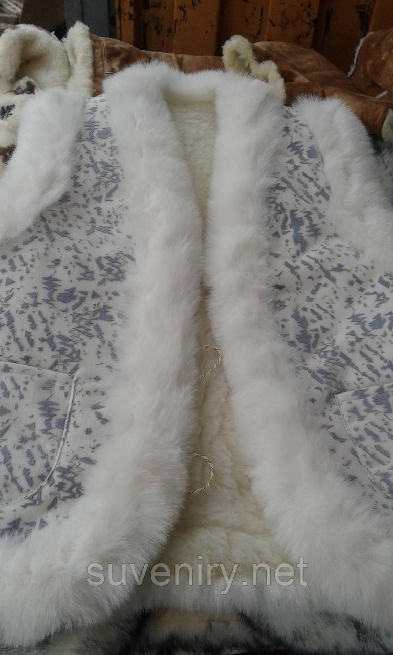 Женская жилетка из овечьей шерсти есть большие размеры