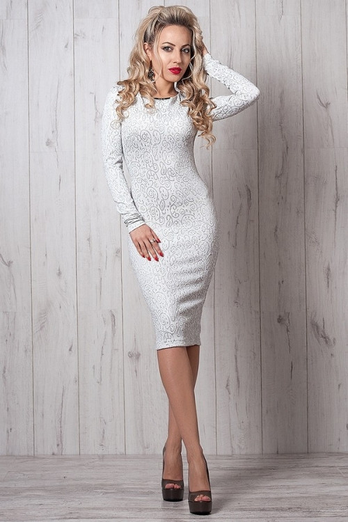 Платье с нитями люрекса