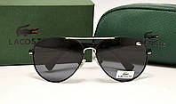 Мужские солнцезащитные очки Lacoste 185 цвет черный с золотом