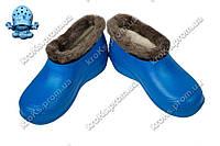 Женские галоши (Код: TS снежинка синий)