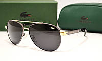Мужские солнцезащитные очки Lacoste 8023 серебро