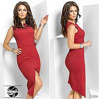 Женское стильное платье ассиметрия 565 \ красное