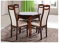 Стол деревянный круглый  Гаити 90 (+30)х90х75 (светлый орех)