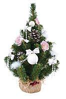 Елка h-0,45 м с украшением Новогодько Нежность