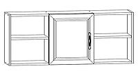 """Полка навесная для стола (1,1),детская """"Вега"""",ф-ка """"SV Мебель"""""""