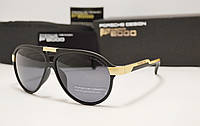 Мужские солнцезащитные очки Porsche Desig 8527 цвет черный с золотом