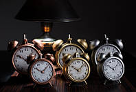 Свеча будильник 130х90х150 мм.  1 шт. Цвет серебро