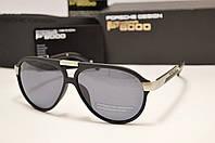 Мужские солнцезащитные очки Porsche Design 8527 цвет черный с сербром