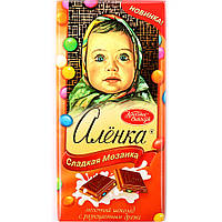 Шоколад Аленка с разноцветными драже  Красный Октябрь 100 грамм