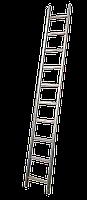 Лестница приставная 10 ступеней (Н 2.84м; 4.8кг) алюминиевая TECHNICS