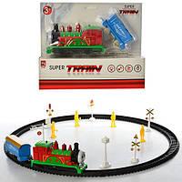 Железная дорога A105-FHG  локомотив 15 см,муз, свет, вагон, 3 вида, на бат-ке,в кор-ке, 28-23-6,5см