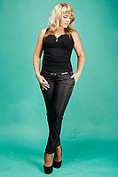 Женские классические брюки №1587 (черные)