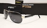 Мужские солнцезащитные очки Porsche Design 8497 цвет черный с серебром