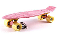 Пенни Борд Fish «Нежно розовый» 22″ / пенниборд скейт (penny board), скейтборд, фото 1