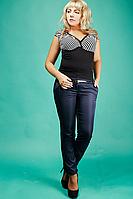 Женские классические брюки №1586 (синие)
