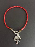 Браслет красная нить с оберегом Древо жизни