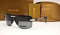 Мужские солнцезащитные очки Gucci 5110 (цвет черный с серебром)