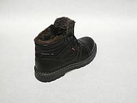 Зимние мужские кожаные ботинки Bumer 80 Чер., фото 1