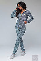 Женский модный спортивный  костюм меланж