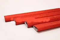 Гофрированная металлизированная бумага Креп Cartotecnica Rossi - Красная
