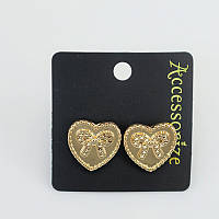 Стильные женские позолоченные серьги в форме сердец от Accessorize