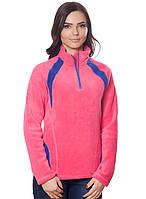 Женская,теплая,флисовая зимняя кофта розового цвета со стойкой.Не дорого