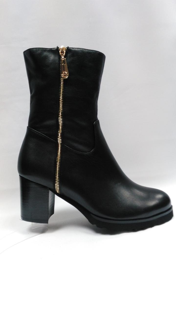 Черные  кожаные ботинки  Еrisses .Большие размеры.
