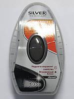 Губка-блеск  с дозатором силикона  Silver  Shoe Products  6 мл  (черный), фото 1