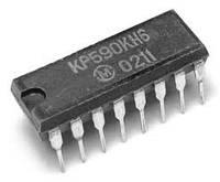 КР590КН6 DIP16 восьмиканальный аналоговый коммутатор с дешифратором