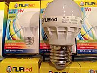 Лампа светодиодная лампочка LED 3W E27 5шт