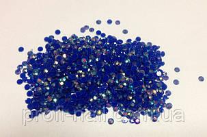 Стразы пластиковые для дизайна ногтей 100 шт. Blue