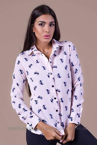 Рубашка женская  пуговицы с бантиками