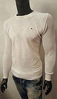 Белый свитер мужской в крапинку