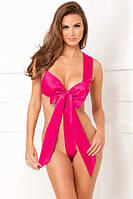 Боди-бант UNWRAP ME SATIN BOW TEDDY PINK, S/М, М/L, фото 1